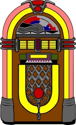 Fifties clip art things. Jukebox clipart rock and roll