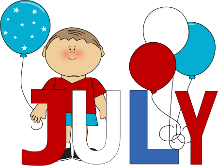 Month of . July clipart