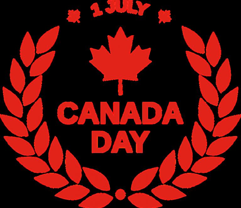 Canada pinterest calendar. July clipart 1st day