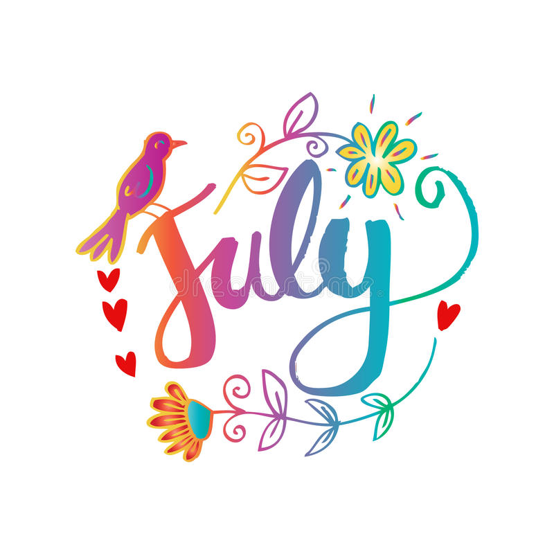 Hello . July clipart