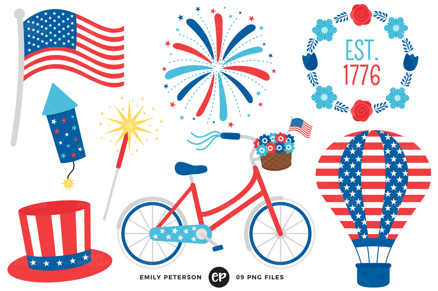 th of by. July clipart