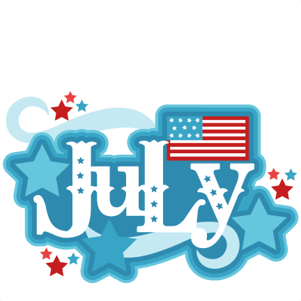 Month of clip art. July clipart