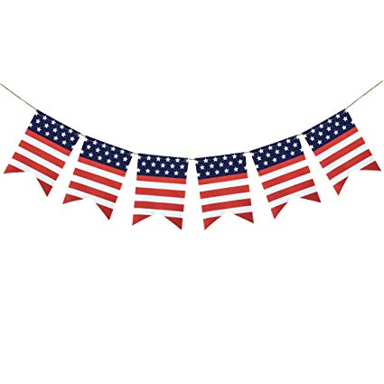 Amazon com uniwish american. July clipart banner usa
