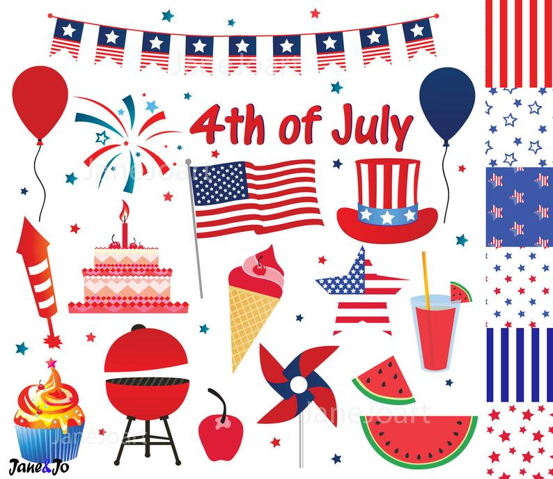 th of fourth. July clipart decoration