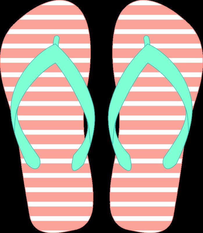 Luau clipart pink flip flop. Freeclip art flops pinterest