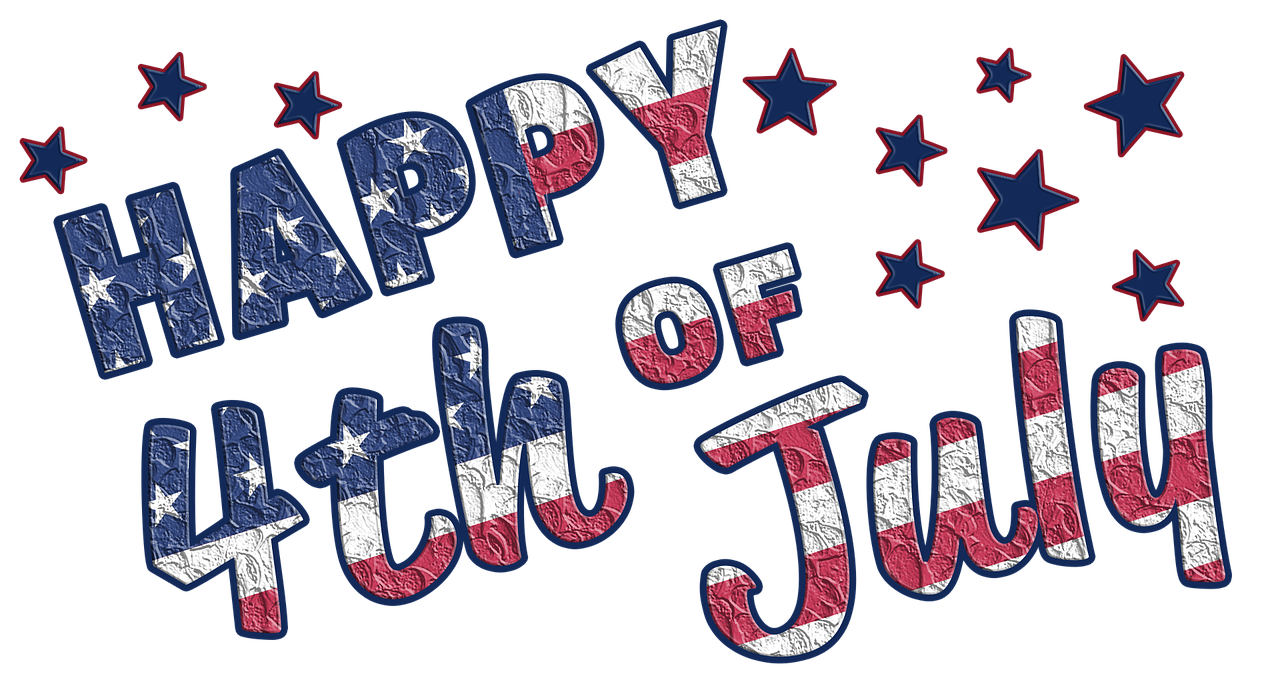 Vacation holiday independence . July clipart header