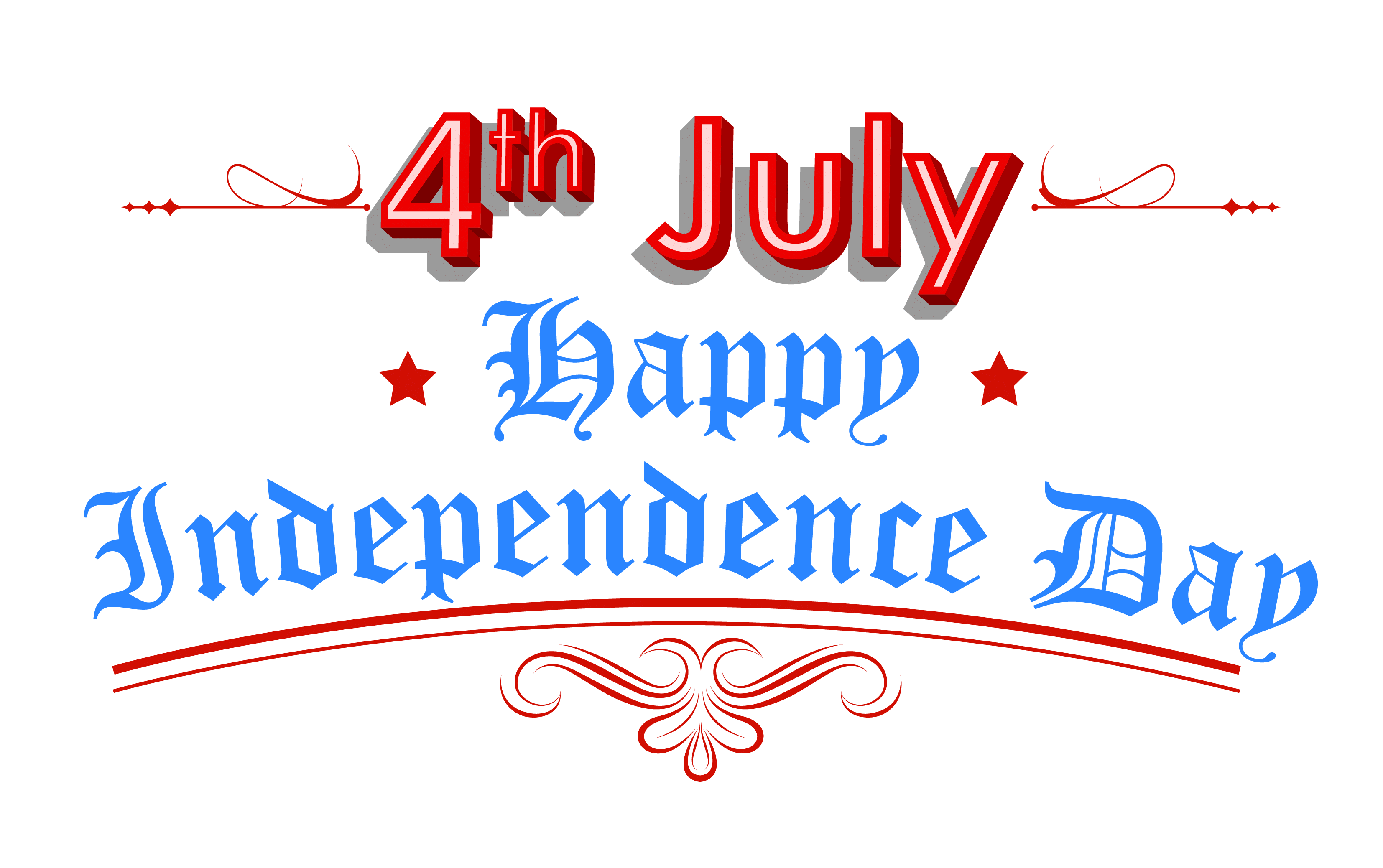 July clipart header.  most beautiful independence