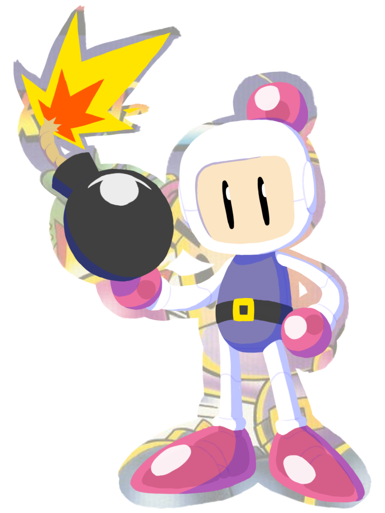 Bomberman quick sketch by. July clipart july 2016