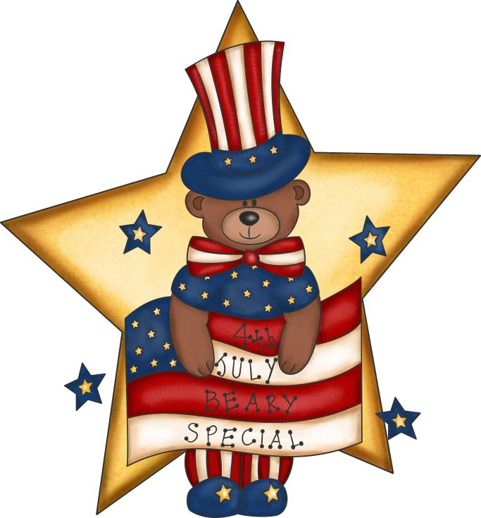 June clipart country. Fourth of july free