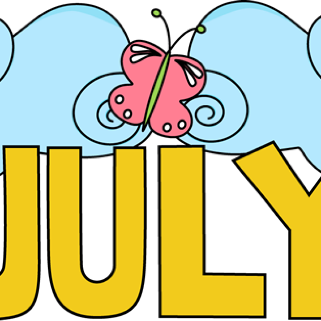 July clipart month name. Free football hatenylo com