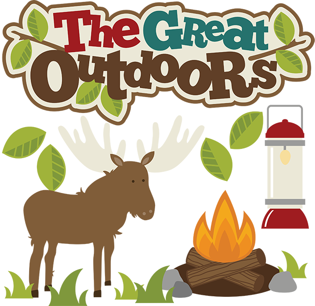 The great outdoors svg. July clipart moose