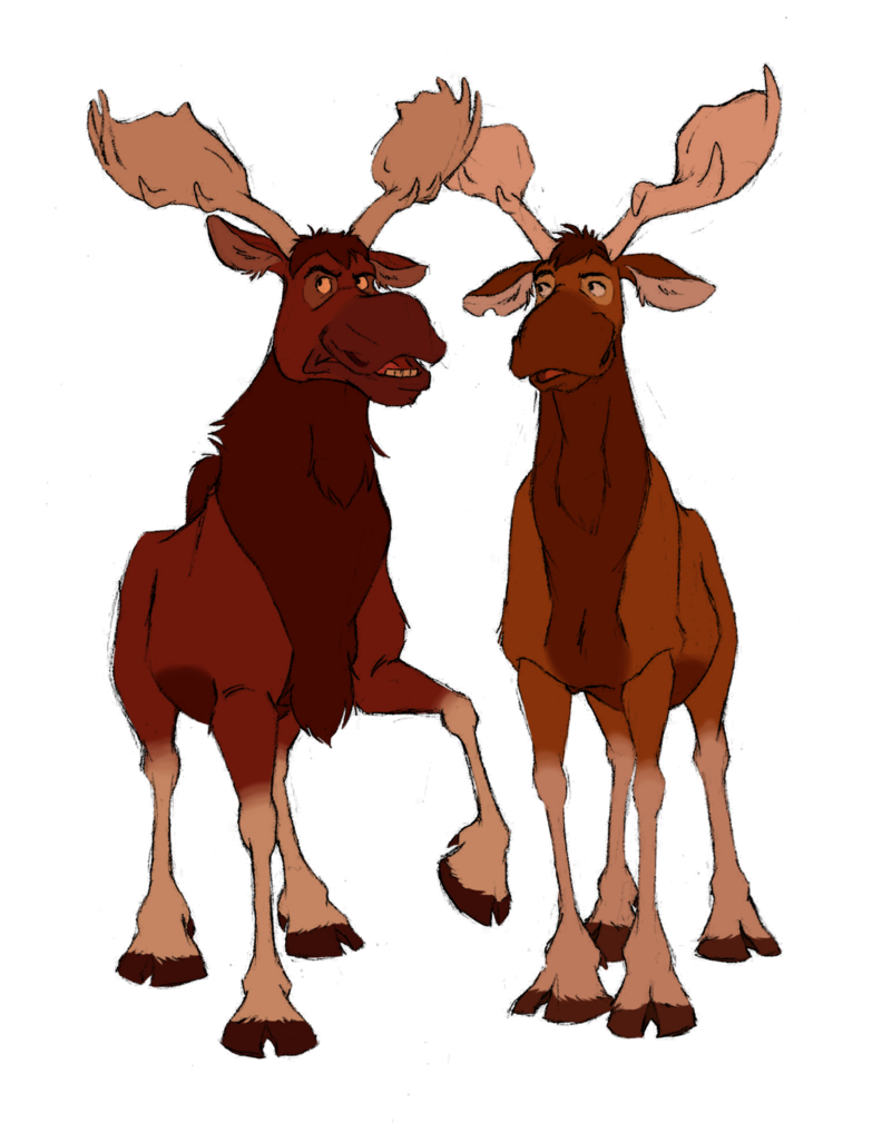 Two from brother bear. July clipart moose