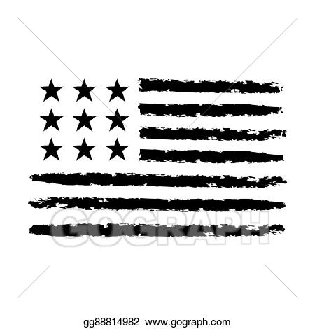 Eps illustration american flag. July clipart patriotic symbol