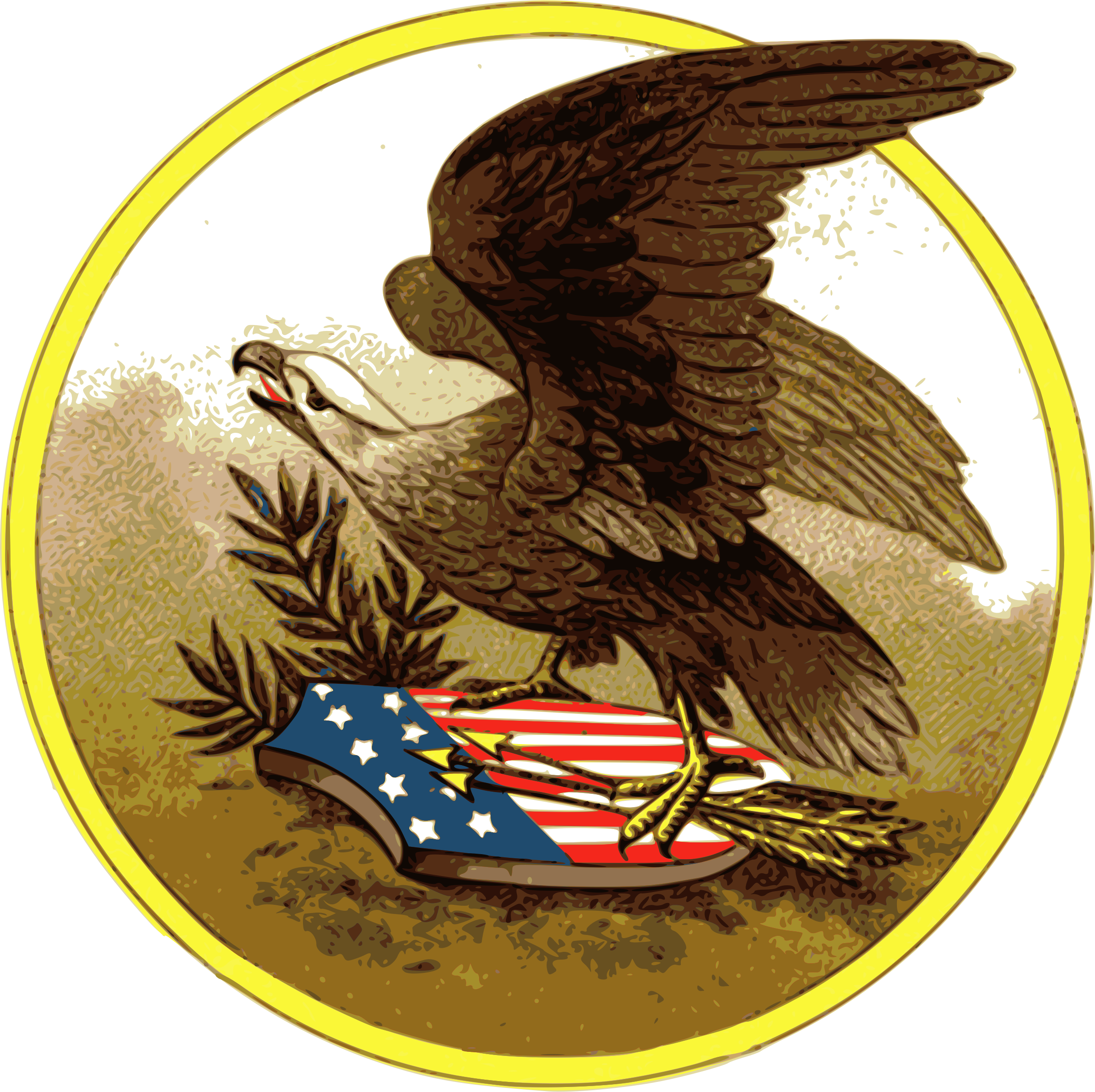 American eagle by j. July clipart patriotic symbol