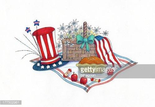 th of premium. July clipart picnic