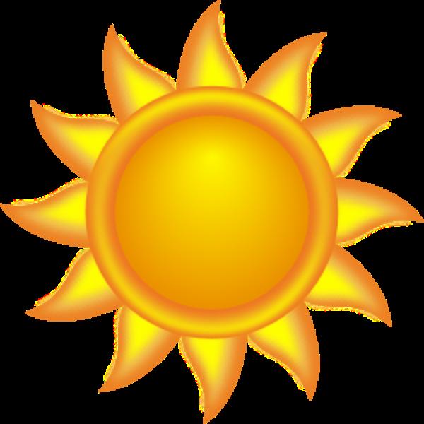 Animation nem ponto . July clipart sun