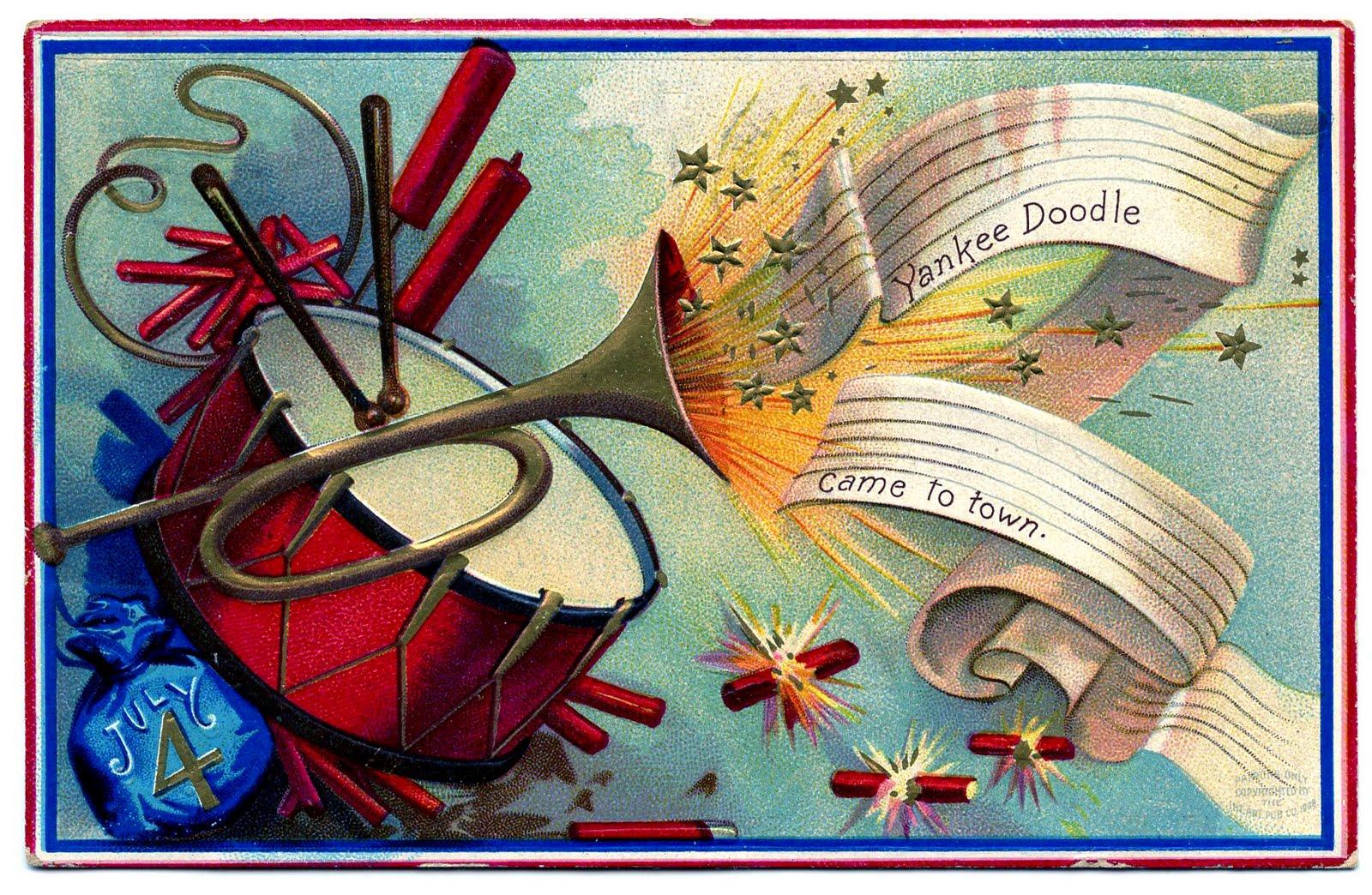 July clipart vintage. Patriotic clip art th
