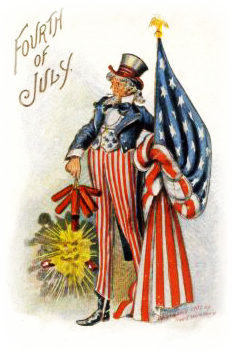 July clipart vintage. Free clip art from