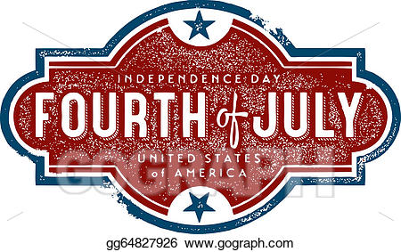Vector art fourth of. July clipart vintage
