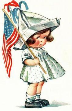 best patriotic images. July clipart vintage