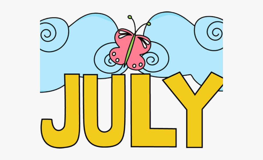 Transparent summer art png. July clipart word july