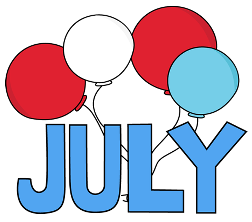 Free images pictures printable. July clipart word july