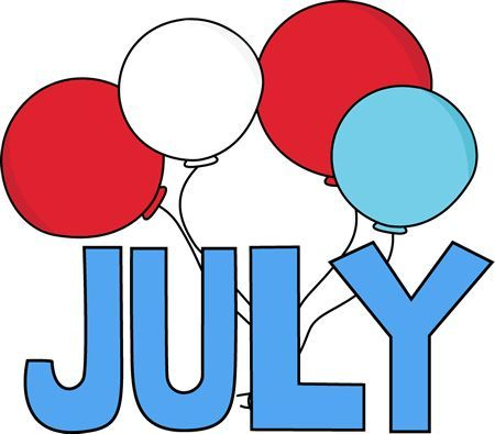July clipart word july. Clip art red white