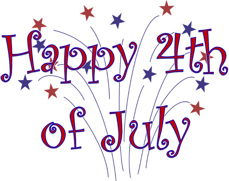 th of olidays. July clipart word july