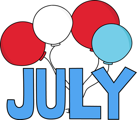 Clip art images of. August clipart july month