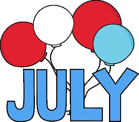 Clip art images month. July clipart