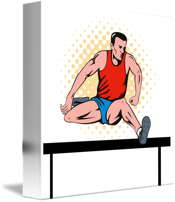 Jumping clipart athletic person. Track and field athlete
