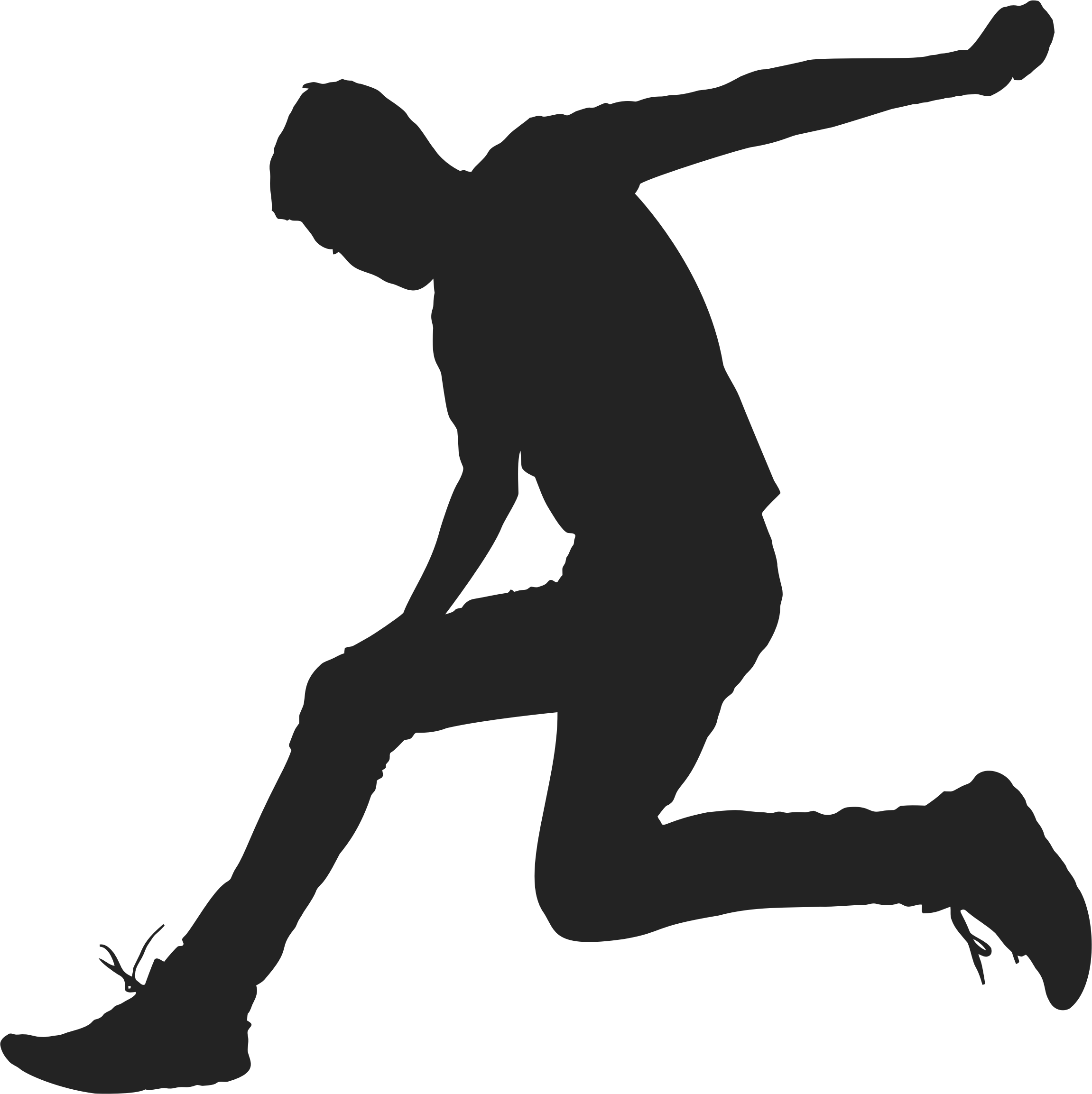 Jumping clipart athletic person. Man silhouette big image