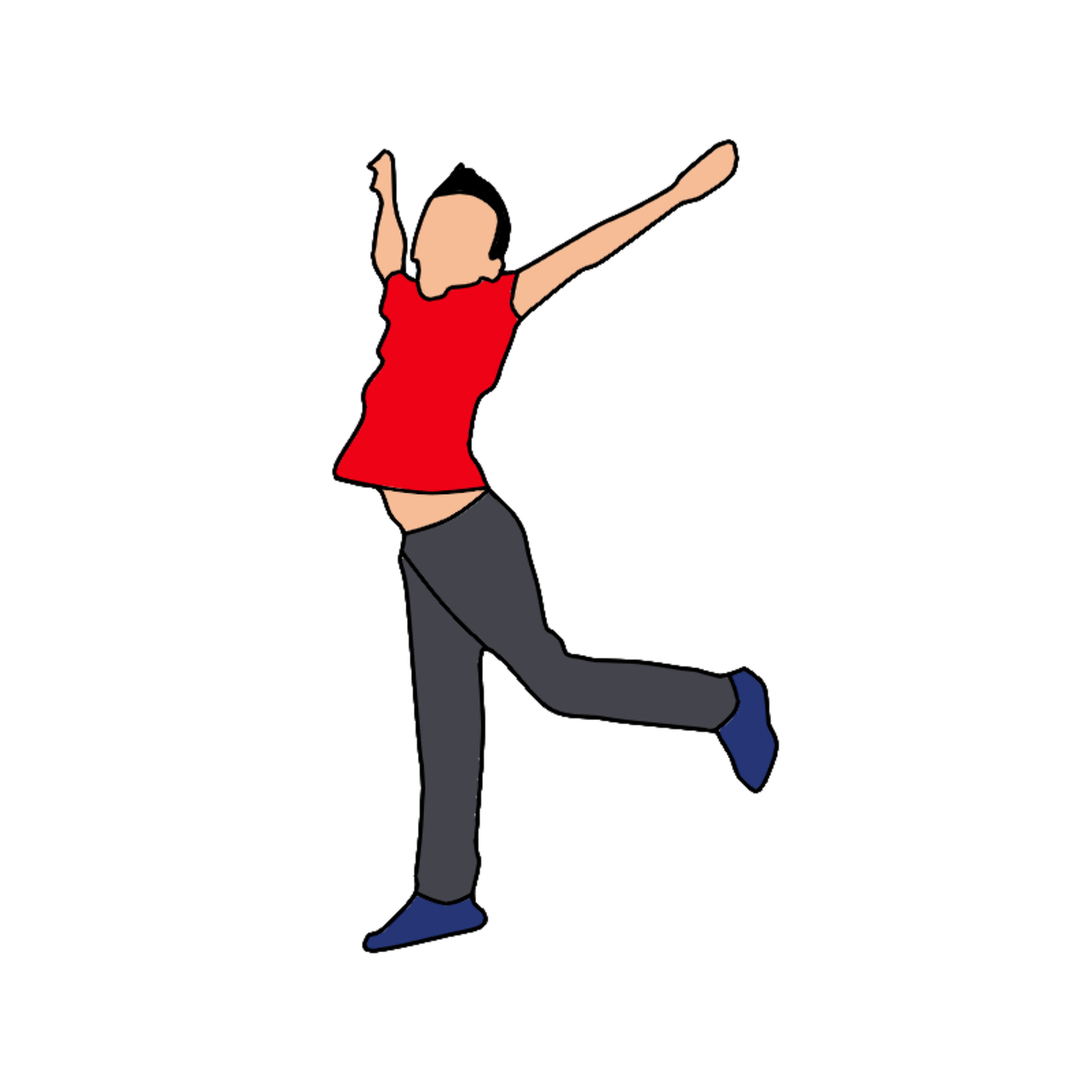 Boy happy fun free. Nerd clipart jumping