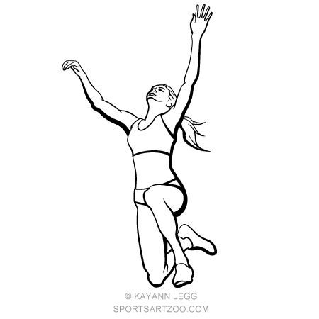 Jump clipart long jumper. Female track jumpers