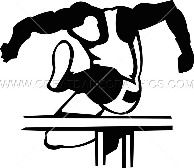 Hurdle jumper production ready. Track clipart pole vault