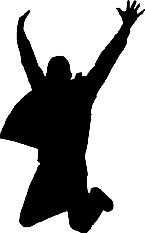Happy silhouette png free. Jump clipart transparent