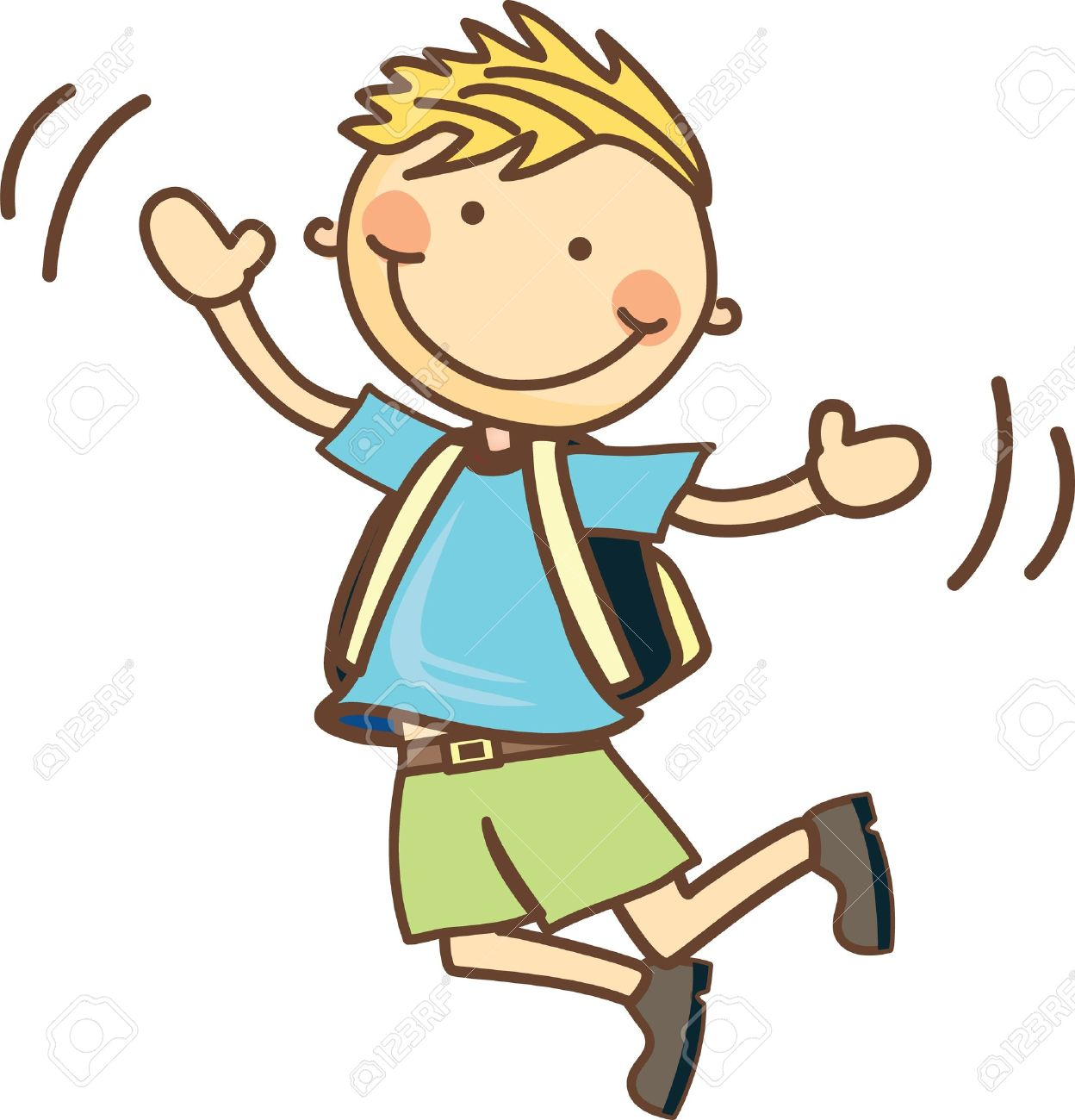 Boy . Jumping clipart