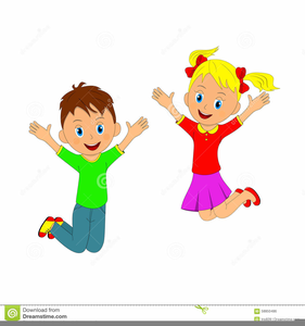 Jumping clipart. Children free images at