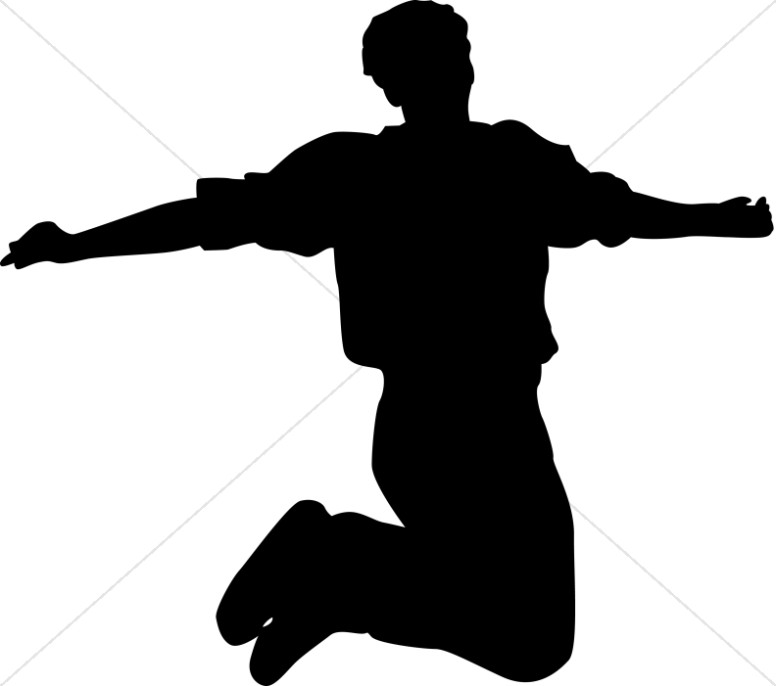 For joy praise. Jumping clipart