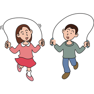 Skipping rope cliparts of. Jumping clipart skip