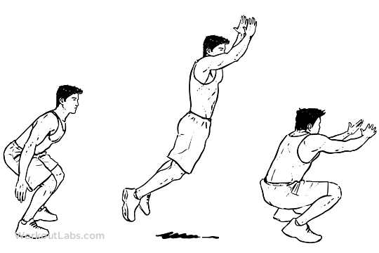 Jumping clipart standing long jump. Illustrated exercise guide workoutlabs