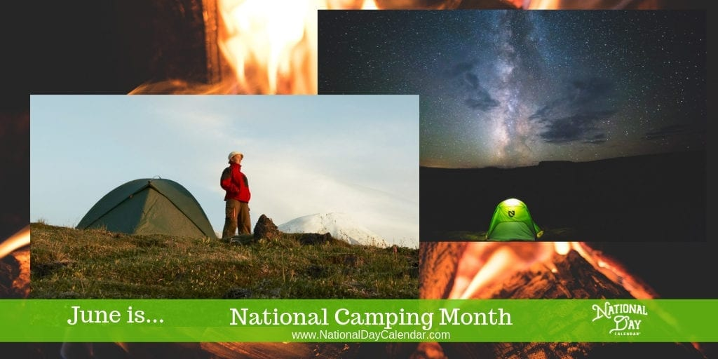 June Camping Calendar. National month day
