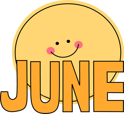 Free month clip art. June clipart