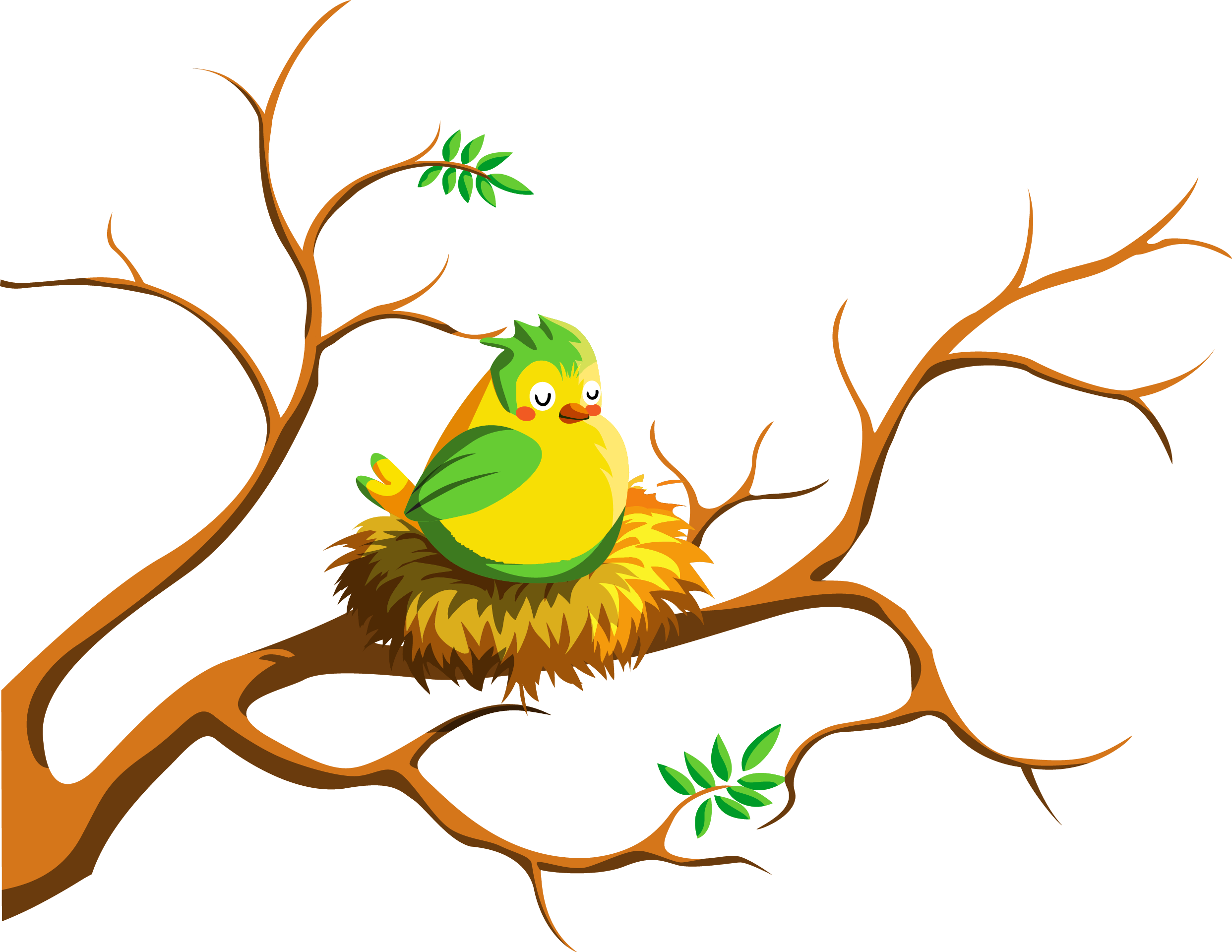 Feathering an empty by. Nest clipart illustration