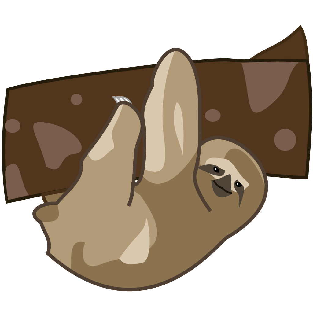 Patient clipart svg. File sloth cartoon wikipedia