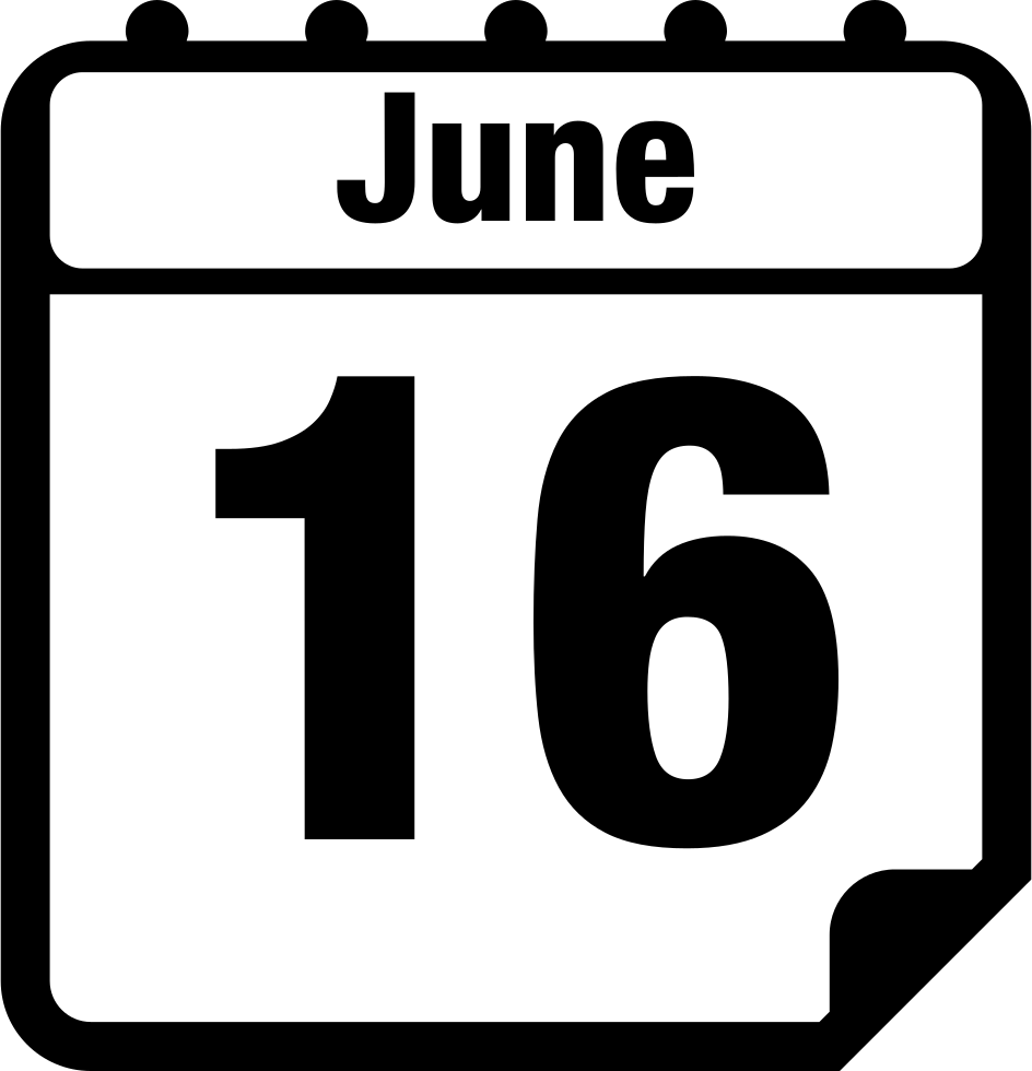 June daily svg png. Schedule clipart calendar page