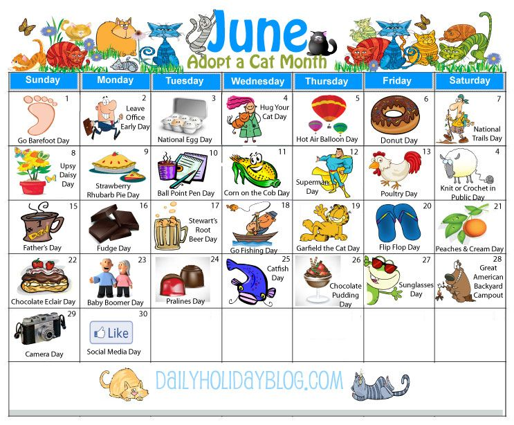 June clipart june holiday. Holidays calendar daycare daily