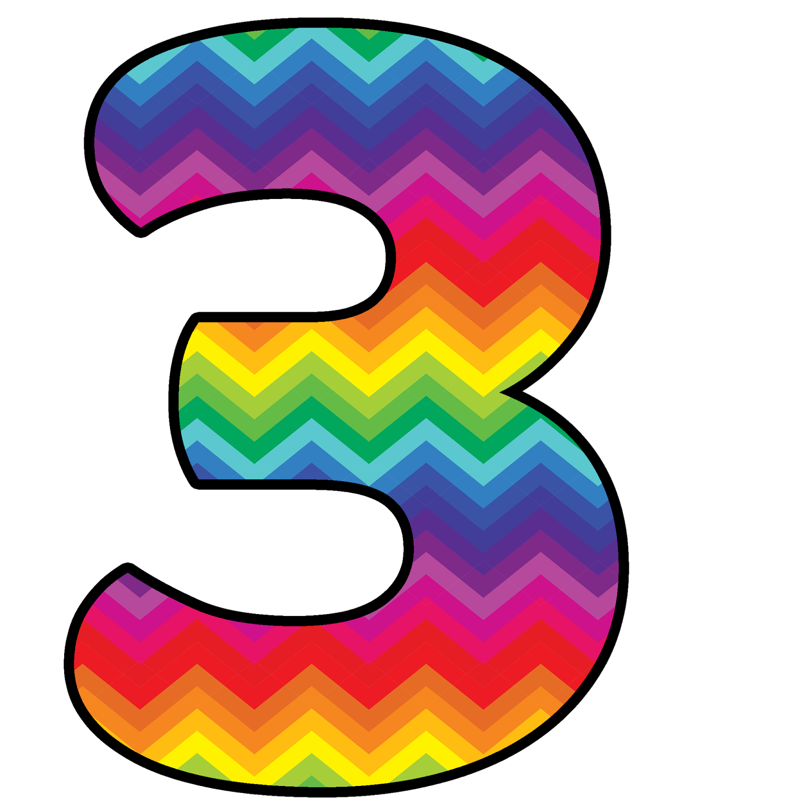 Number 3 Clipart Number Chevron  Number 3 Number Chevron