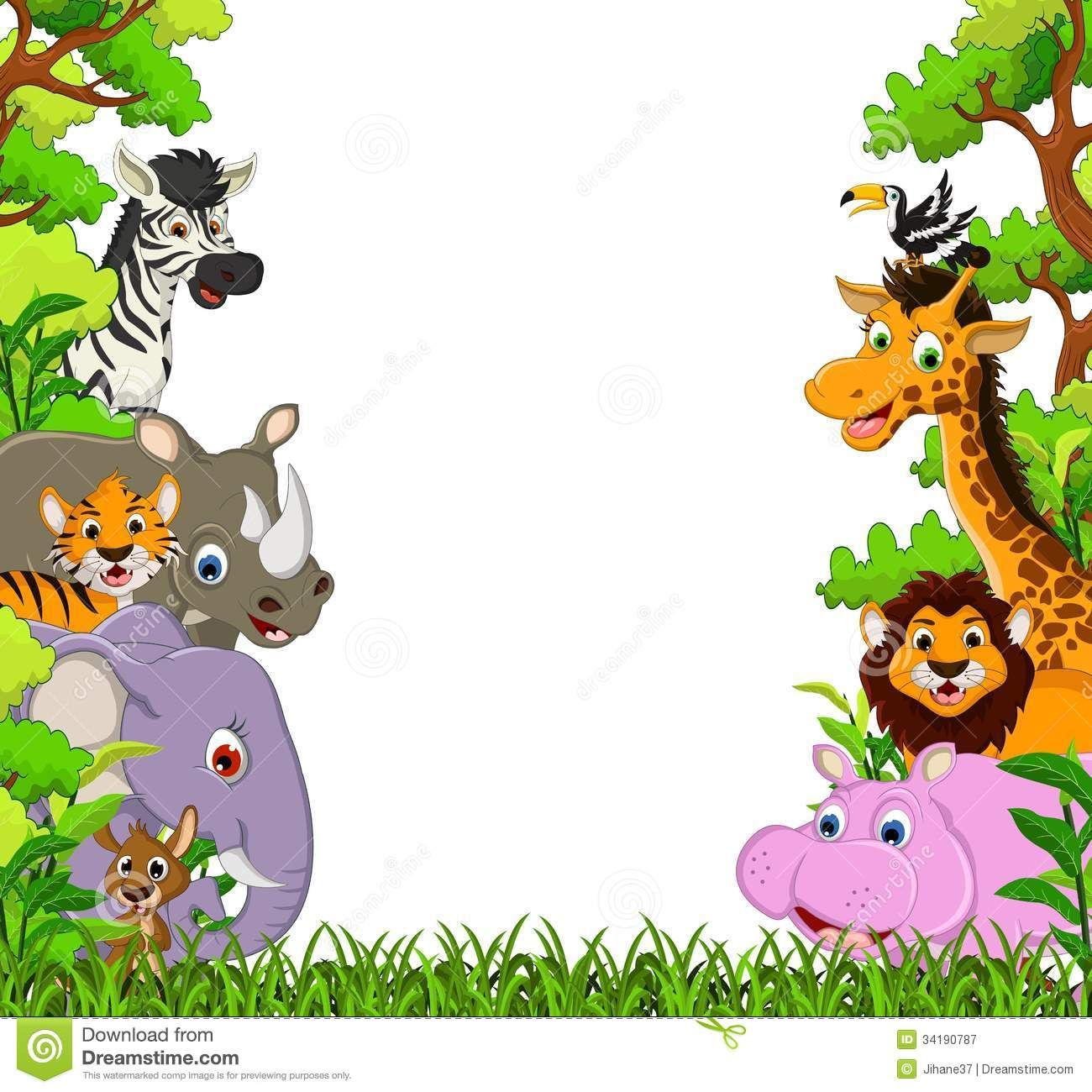 Jungle clipart. Image for free animal