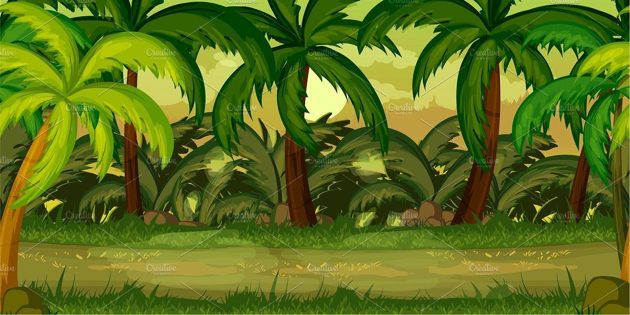 Rainforest Jungle Background Cartoon Vector Clipart - FriendlyStock